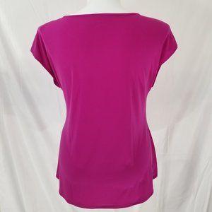 Lane Bryant Tops - NWT! Lane Bryant Gathered Purple Pink Tee 18/20